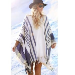 Free People Striped Poncho